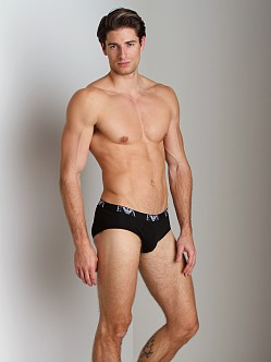 Emporio Armani Genuine Cotton 3-Pack Brief Black