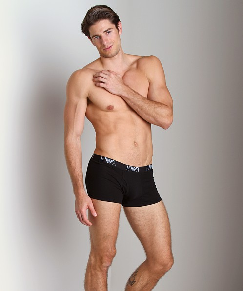 Emporio Armani Genuine Cotton 3-Pack Trunk Black