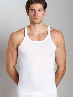 Emporio Armani Genuine Cotton 3-Pack Tank Top White