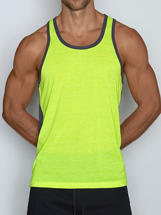 Model in jarrod yellow C-IN2 Super Bright Relaxed Tank Top