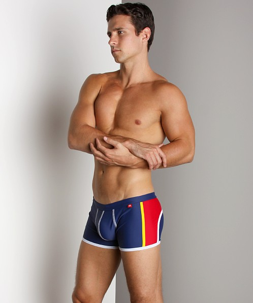 Andrew Christian Shock Jock Trunk Navy