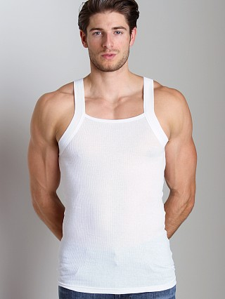 2xist 2-Pack Square Cut Tank Tops White
