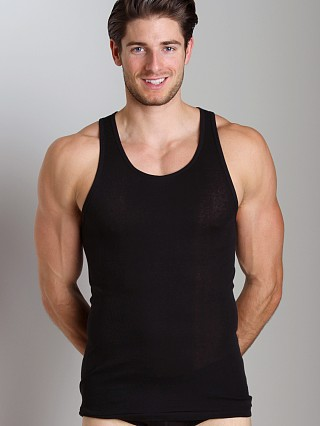 Model in black 2xist 3-Pack Tank Tops