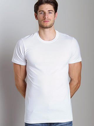 Model in white 2xist 3-Pack Jersey Crew Neck T-Shirts