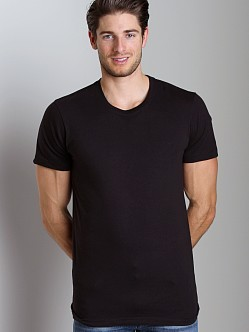 2xist 3-Pack Jersey Crew Neck T-Shirts Black