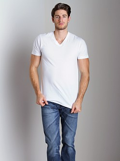 2xist 3-Pack Jersey V-Neck T-Shirts White