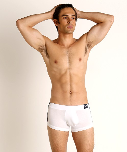 Emporio Armani Logo Tape Trunk White
