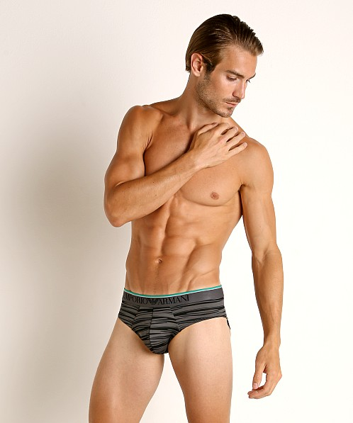 Emporio Armani Graphic Animalizer Brief Anthracite/Black