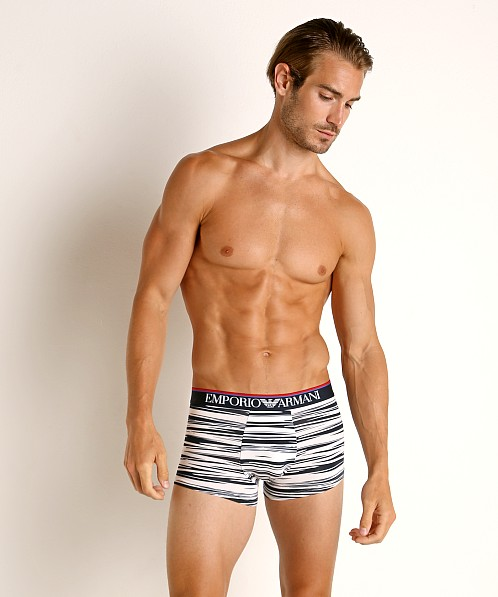 Emporio Armani Graphic Animalizer Trunk White & Marine