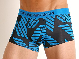 Emporio Armani All Over Eagle Microfiber Trunk Marine