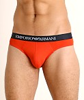 Emporio Armani Pure Cotton Briefs 3-Pack Overseas/Marine/Orange, view 3