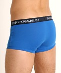 Emporio Armani Pure Cotton Trunks 3-Pack Overseas/Marine/Orange, view 4