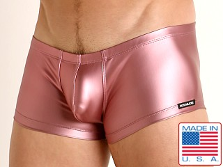 Model in pink Rick Majors Liquid Skin Trunk