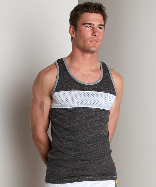 Andrew Christian Parallel Tank Top Black