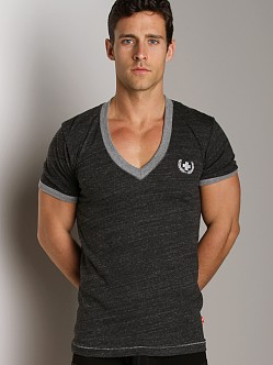 Andrew Christian Olympic Deep Vee Tee Black