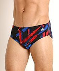 Adidas Code Of Tribe Print Swim Brief Red/White/Blue, view 3