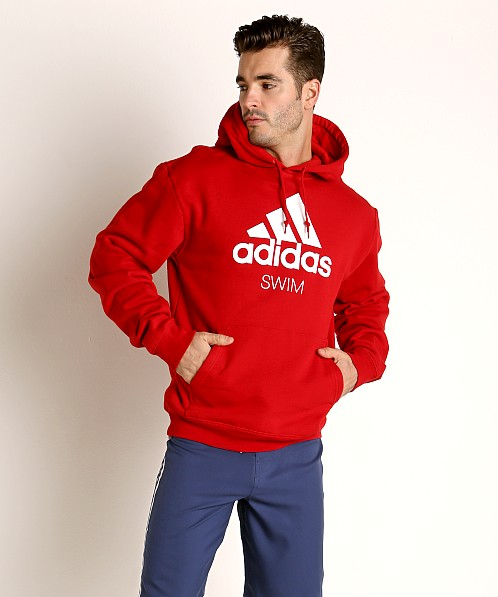 adidas fleece red