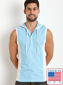 Pistol Pete Martinique Sleeveless Hoody Aqua