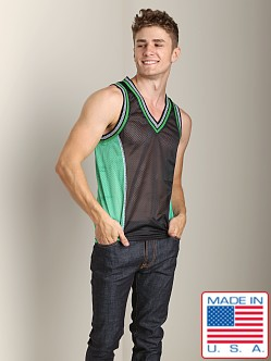 Pistol Pete Scrimmage Athletic Mesh Muscle Shirt Black/Green