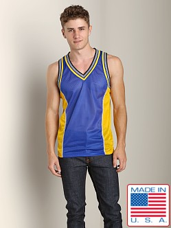 Pistol Pete Scrimmage Athletic Mesh Muscle Shirt Royal/Gold