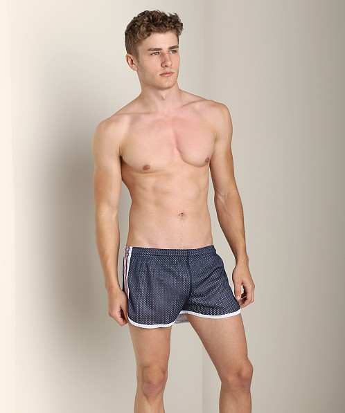 Pistol Pete Scrimmage Athletic Mesh Short Navy/White
