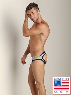 Pistol Pete Racer Open Back Jock Brief Grey