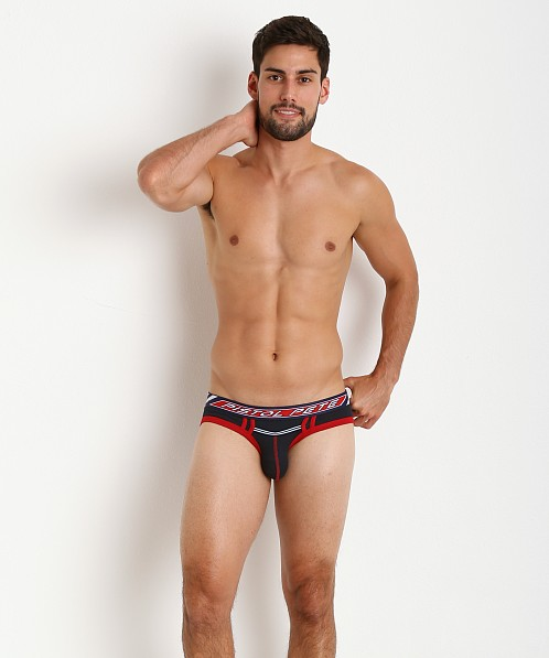 Pistol Pete Racer Brief Navy