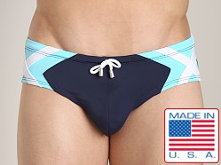 Pistol Pete Avenger Brief Navy/Aqua