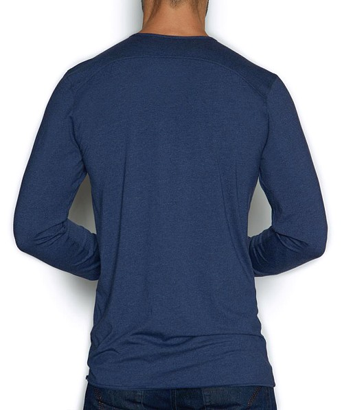 C-IN2 Base Layer Long Sleeve Crew Naudomo Navy Heather