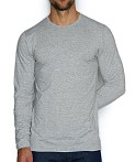 C-IN2 Base Layer Long Sleeve Crew Earl Grey Heather, view 1