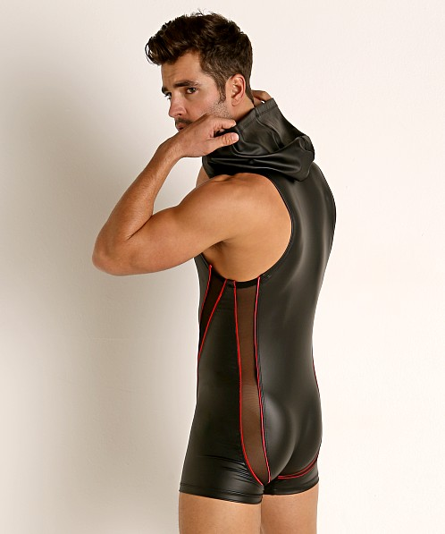 Rick Majors Dark Mode Hooded Singlet Black/Red