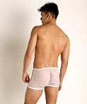 Rick Majors Diamond Mesh Trunk White, view 2