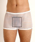 Rick Majors Diamond Mesh Trunk White, view 3