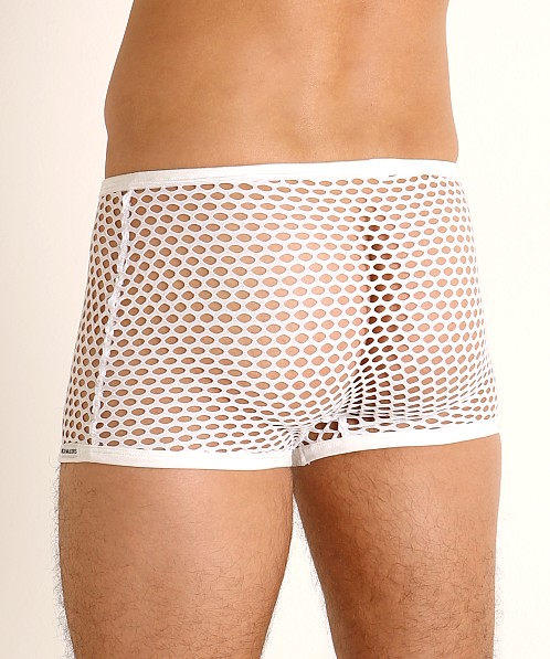 Rick Majors Diamond Mesh Trunk White