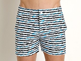 Complete the look: LASC Laguna Swim Shorts Turquoise Linear