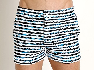 Complete the look: LASC Malibu Swim Shorts Turquoise Linear