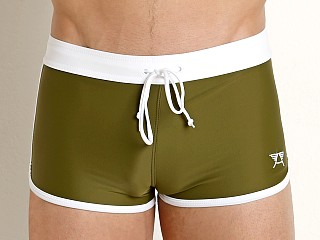 You may also like: LASC American Square Cut Swim Trunks Army Olive