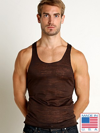 LASC Burn Out String Tank Brown