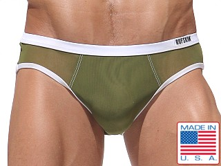 Rufskin Bulle Tulle Stretch Mesh Brief Olive