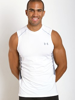 Under Armour Raid Mesh Insert Sleeveless Tee White