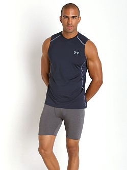 Under Armour Raid Mesh Insert Sleeveless Tee Midnight