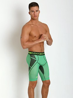 Under Armour NFL Combine Compression Short Feisty Green