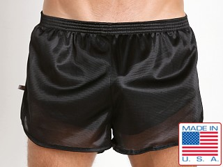 American Jock 70's Retro Featherweight Running Shorts Black