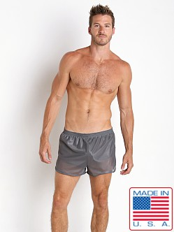 American Jock 70's Retro Featherweight Running Shorts Charcoal