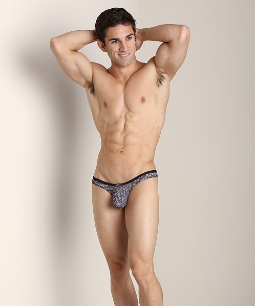Gregg Homme Celebration Thong Blue Print