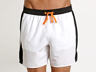 Emporio Armani Color Block Swim Boxer White