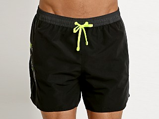 Emporio Armani Color Block Swim Boxer Black