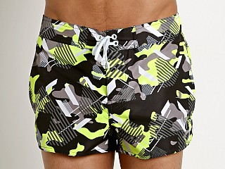 Complete the look: Emporio Armani Camou Swim Shorts Camou Neon Yellow