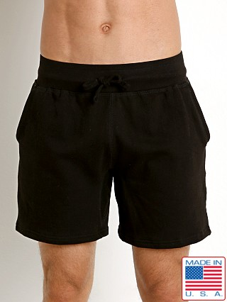 Model in black LASC Gym Rat Classic Sweat Short