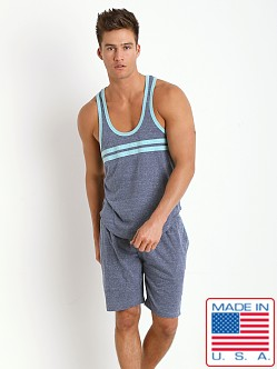 Pistol Pete Express Y-Back Tank Top Denim Blue